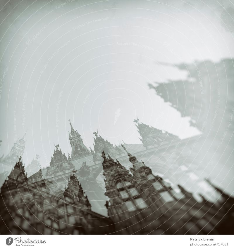 City House (Residential Structure) Environment Movement Architecture Building Dream Air Perspective Uniqueness Hamburg Mysterious Network Fear of death