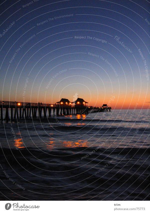 Sky Ocean Blue Dark Relaxation Bright USA Jetty Dusk Florida
