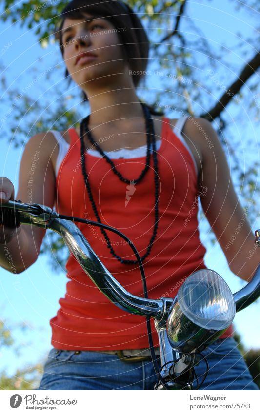 bicycling Bicycle Bicycle light Black Belt Orange Chain Sky