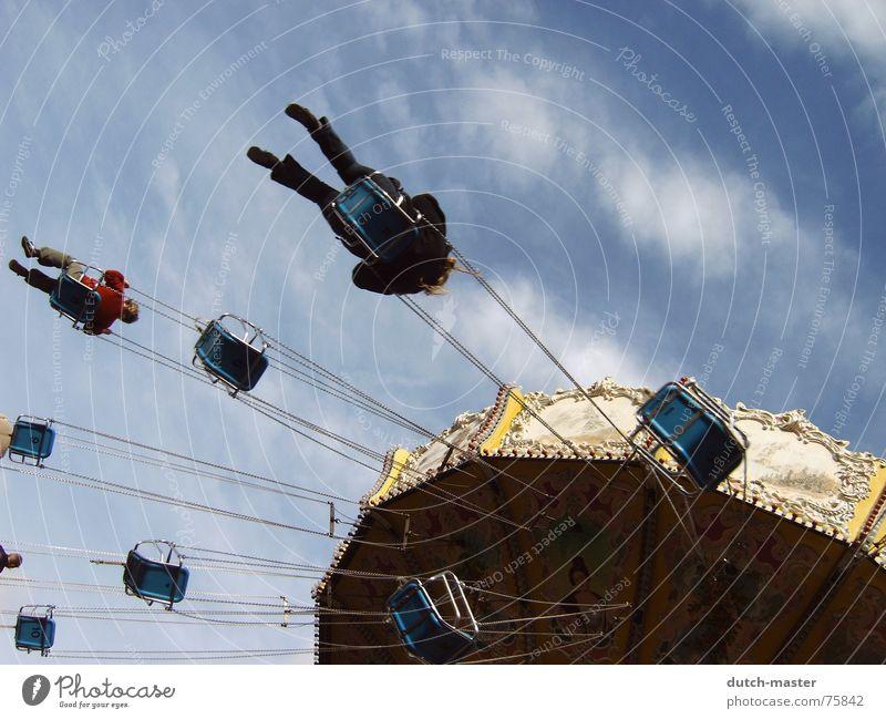 Sky Blue Joy Vacation & Travel Freedom Emotions Park Fear Trip Flying Circle Round Rotate To break (something) Sunday Vertigo