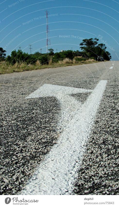 have a break... Ground markings Traffic lane South Africa Street Arrow Landscape eastern cape