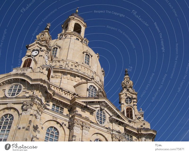 Church of Our Lady Dresden Building Domed roof Renewal Frauenkirche Religion and faith Baroque sacral building sandstone building Architecture