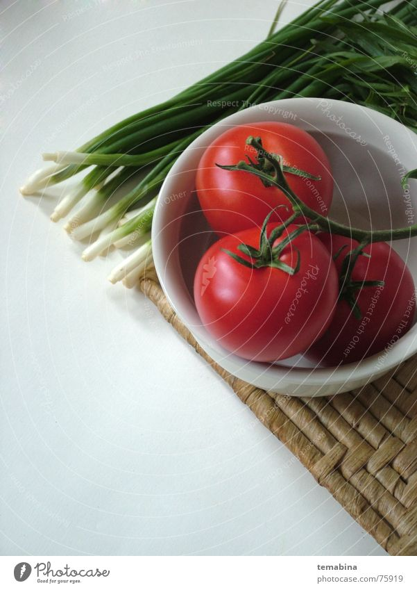 vegetables Background picture Simple tomato blow white sping onions chives dish bolster red