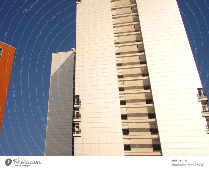 Sky White Blue House (Residential Structure) Berlin High-rise Middle Balcony Tramp Redevelop Loggia Homeless