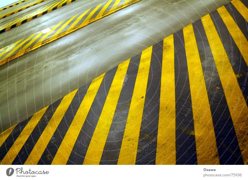 Black Yellow Parking Respect Striped Traffic lane Underground garage