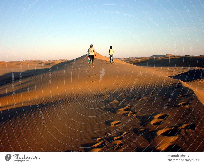 dune hike Swakopmund Africa Namibia Twilight Beach dune To go for a walk Namib desert Evening