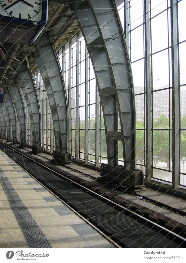 Architecture Glass Railroad Railroad tracks Steel Train station Construction