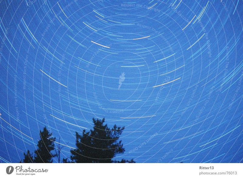 Northern Sky night vortex polaris blur long exposure nude
