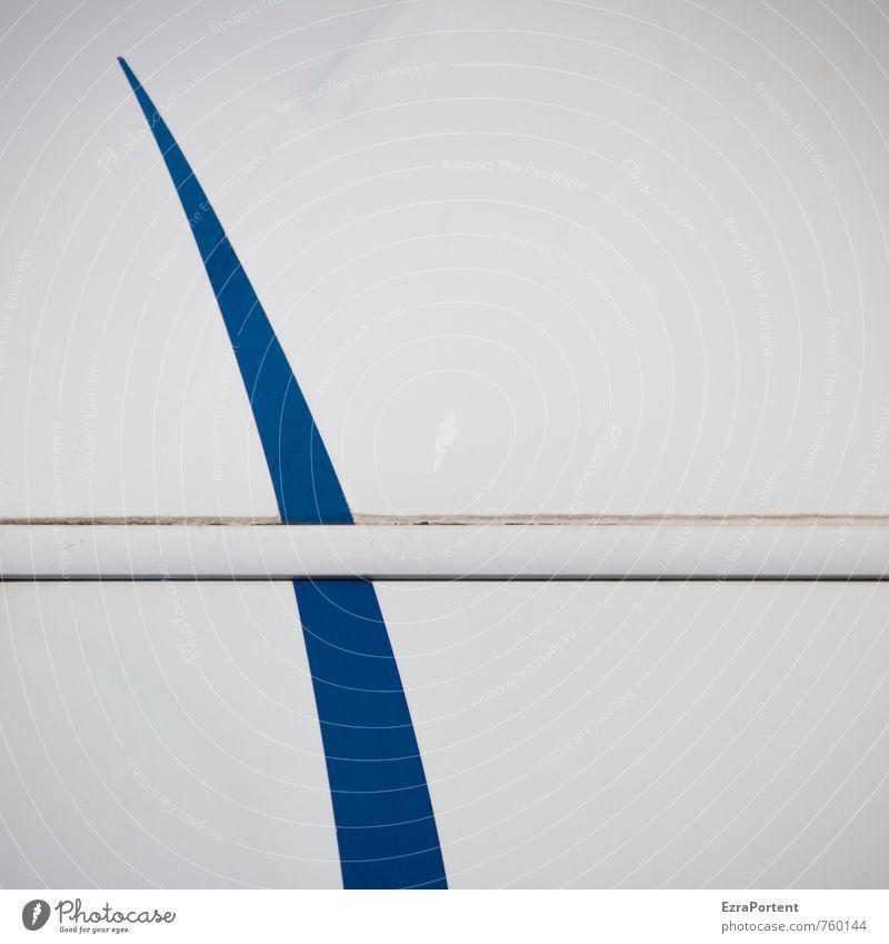 shark fin Style Mobile home Caravan Plastic Sign Line Stripe Bright Blue White Car body Swing Spirited Direct Design Illustration Graphic Colour Colour photo