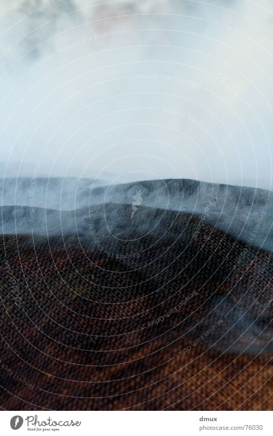 vapor Hill Cloth Clouds Fog Dampen Steam Smoke Landscape Empty