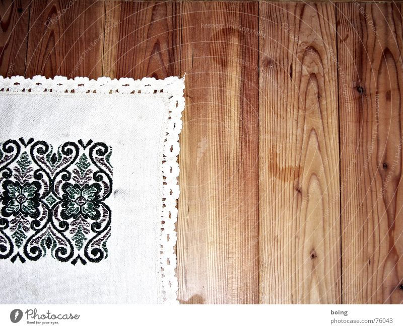 Table Decoration Café Congratulations Blanket Lace Household Wooden floor Beer garden Regulars Embroider Happy Birthday