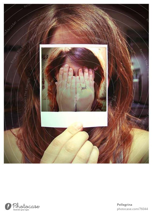 Face Emotions Sadness Think Fear Polaroid Grief Self portrait