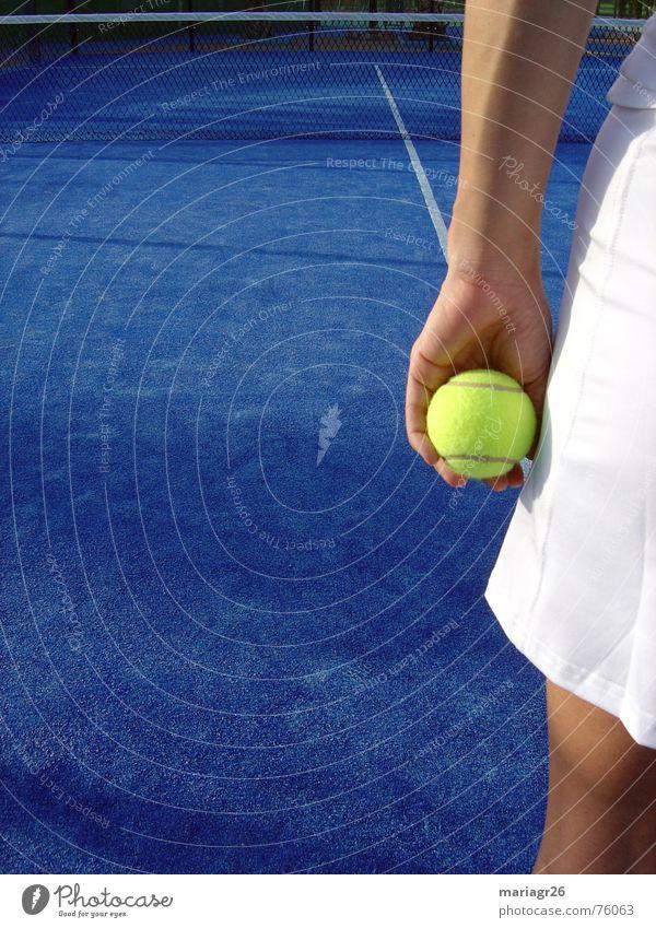 sports Tennis Summer Leisure and hobbies Woman Blue Sports Ball tenis