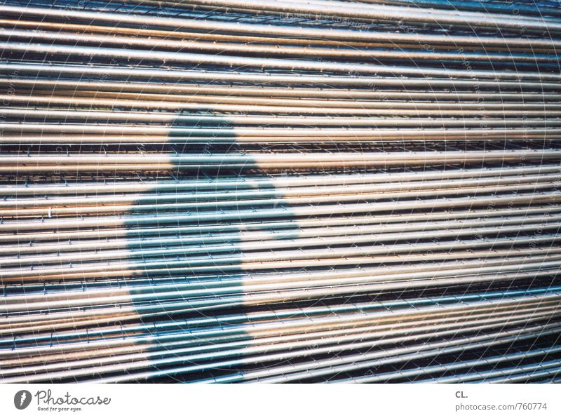 Human being Man Adults Line Metal Masculine Perspective Uniqueness Fence Barrier Grating Photographer Take a photo Shadow play Shadowy existence