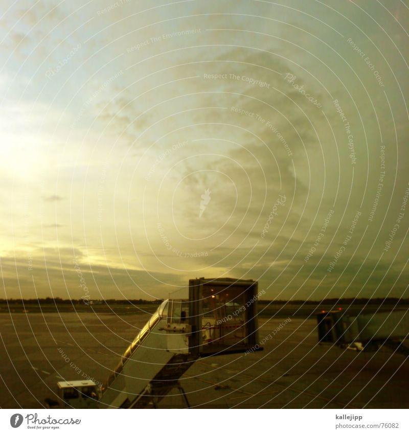 Gate A72 Cellphone camera Runway Airfield Fingers Escalator Gangway Airport Duesseldorf Sky Flying passenger Stairs kallejipp