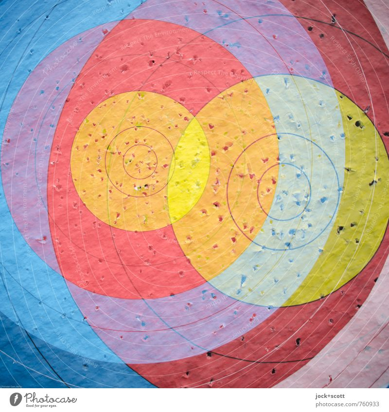 double bearing Archery Strike Target Crosshair Hollow Paper Line Circle Round Design Concentrate Irritation Double exposure Superimposed Surface Dadaism