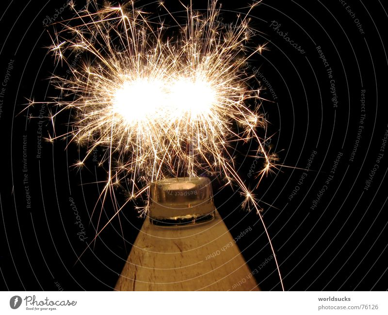 there the sparks fly Black Night New Year's Eve Sparkler Spray Fire Blaze Magic Colour Joy Feasts & Celebrations