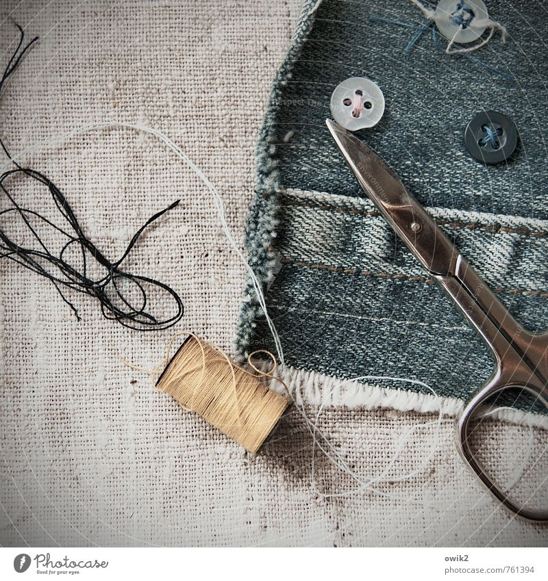Small Work and employment Point Cloth Thin Firm Near Tool Textiles Handicraft Denim Sewing thread Buttons Scissors Handcrafts