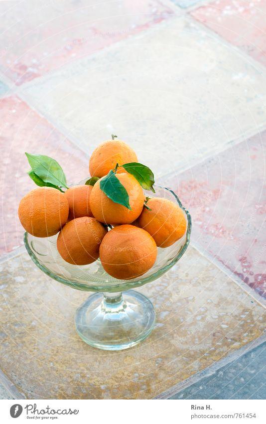 Healthy Fruit Orange Fresh Sweet Tile Bowl Vegetarian diet Fruit bowl Glass bowl