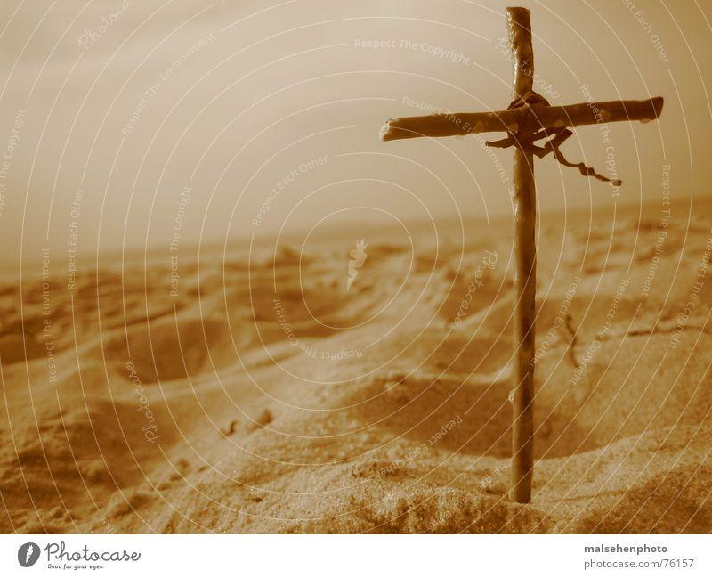 crosssand Beach Religion and faith Christianity Back Sand Sky Earth heaven & earth