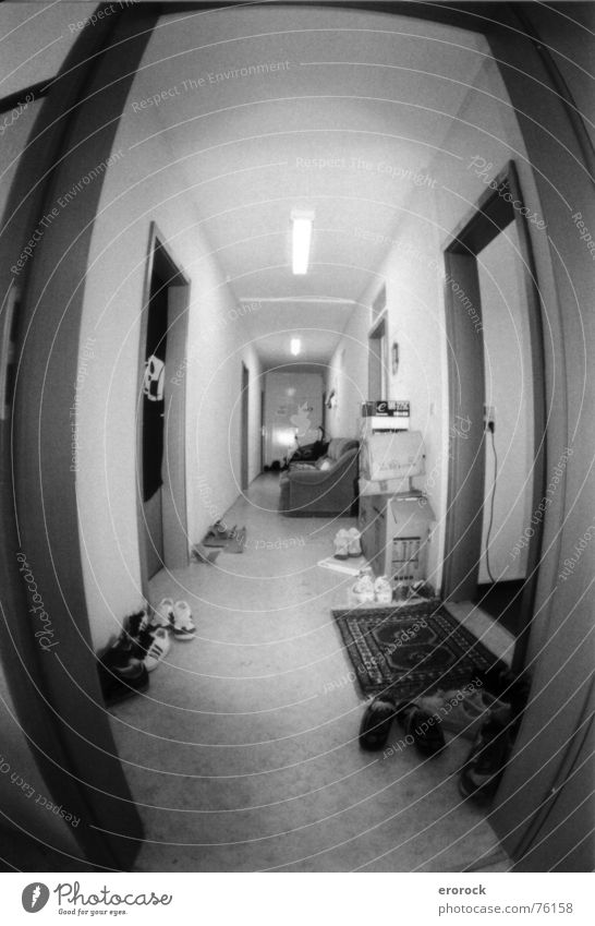 Analog Hallway Dance floor Fisheye Ilmenau