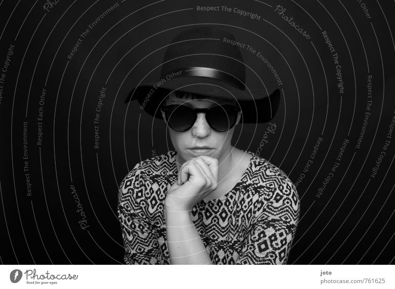 you only live twice Lifestyle Elegant Style Androgynous Fashion Sunglasses Hat Dark Hip & trendy Cold Rebellious Retro Reliability Eroticism Cool (slang) Calm