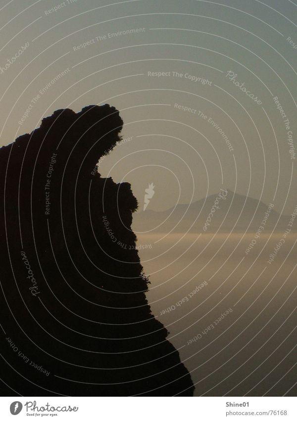 Ocean Mountain Landscape Fog Dusk Shadow play Tenerife Teide West Coast Gran Canaria