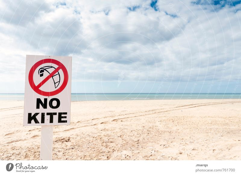 No Kite Leisure and hobbies Kiting Vacation & Travel Adventure Freedom Environment Nature Landscape Sky Clouds Horizon Summer Beach Characters