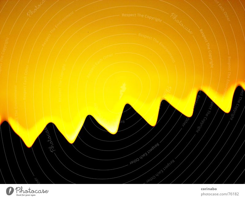 Nature Sky Black Mountain Landscape Orange