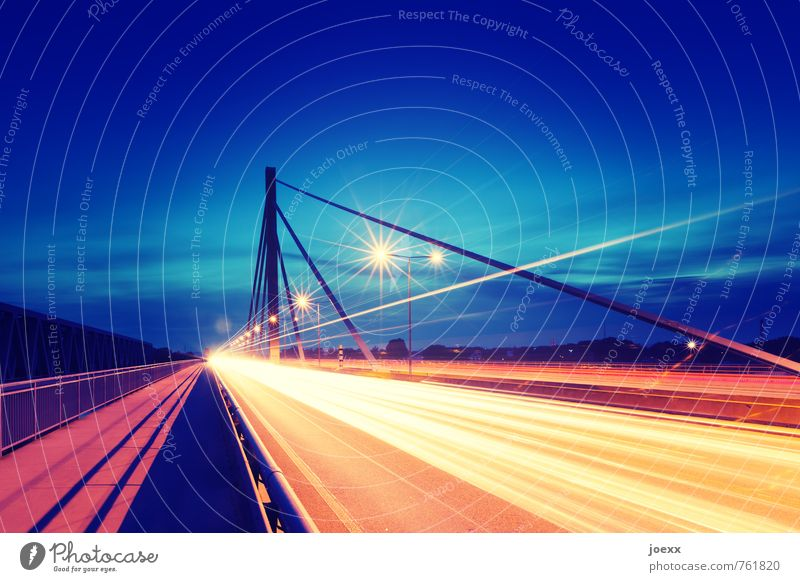 runway Bridge Transport Traffic infrastructure Road traffic Motoring Street Highway Driving Bright Stress Colour Growth Colour photo Multicoloured Exterior shot