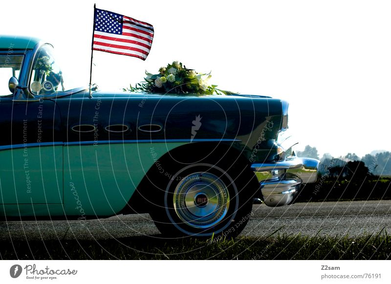 Street Meadow Freedom Style Car Glittering Transport Stripe USA Flag Turquoise Vehicle Wheel rim
