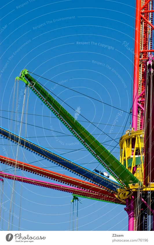 Sky Green Blue Red Colour Metal Violet Chain Vehicle Hang up Scaffold Theme-park rides