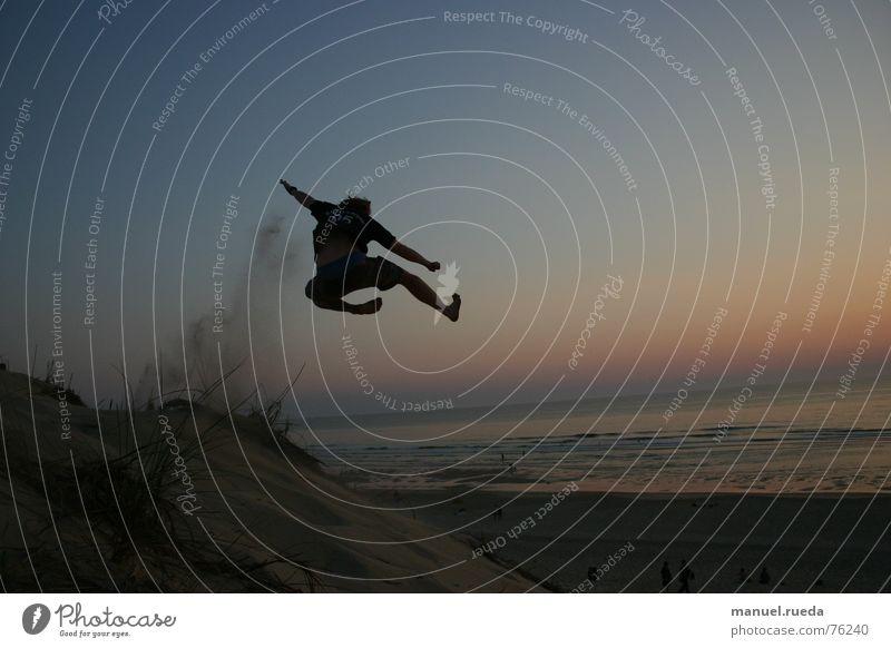Sun Ocean Joy Beach Jump Freedom Martial arts Karate Combat sports Chinese martial art