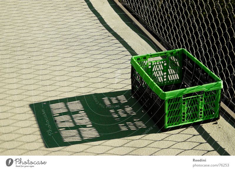 Suspended Crate Shadow Containers and vessels Logistics Design Basket Shopping basket Open out Grating Loneliness Trunk Luggage Concrete Edge Laundry basket