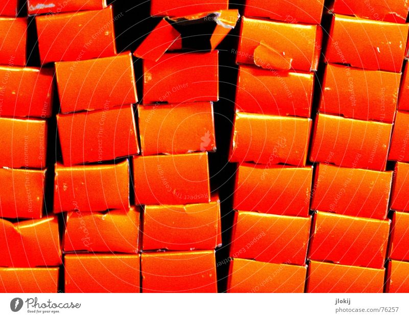Colour Red Joy Orange Tower Surprise Chaos Muddled Packaging Stack Seam Numbers Package Shop window Tumble down Slide