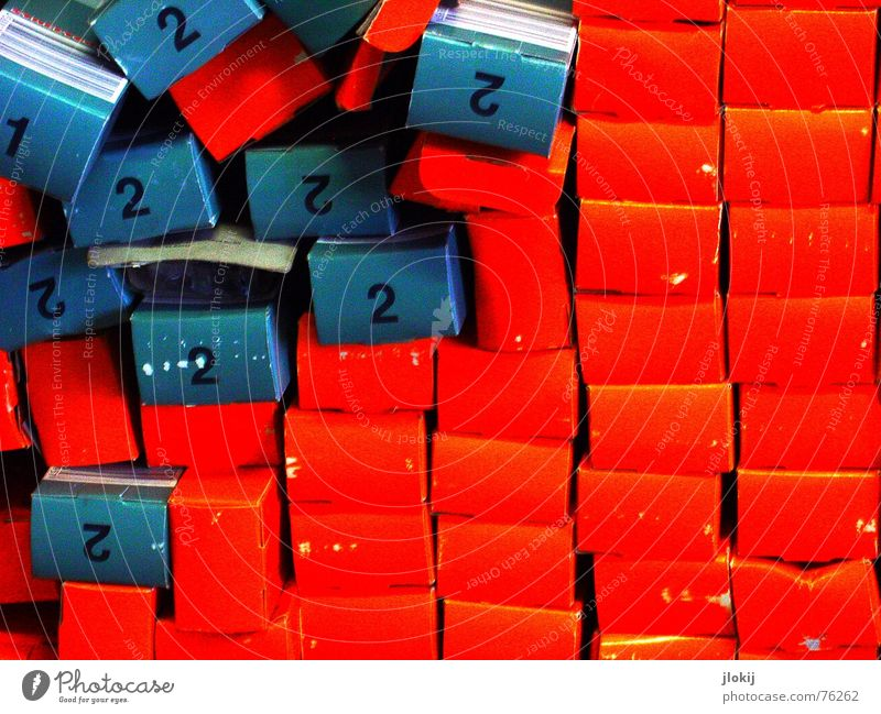 Blue Red Colour 2 Gift Decoration Digits and numbers 4 Chaos 6 Muddled Stack 8 Package 10 Packaging