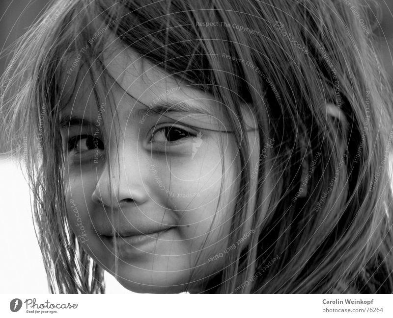 Child Girl Summer Laughter Small Sweet Brunette Impish