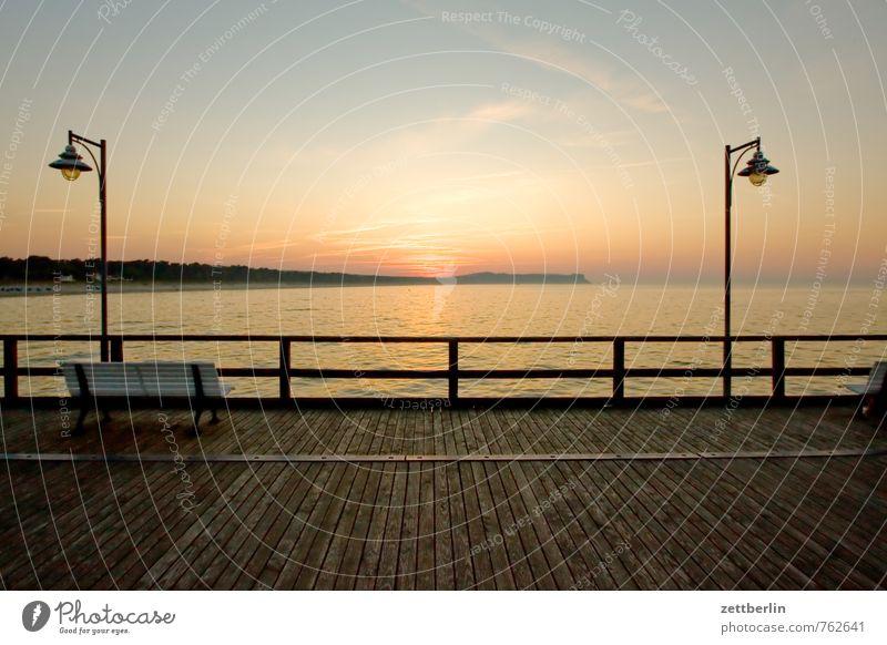 lantern, sun, lantern Relaxation Vacation & Travel Far-off places goehren Horizon Mecklenburg-Western Pomerania Ocean good for the monk Baltic Sea Rügen Sunset
