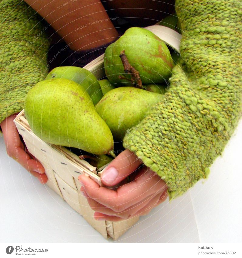colour my life Basket Hand Fine Delicate Small Fresh Green Possessions Take Delicious Stalk Stockings Nail Knit Knitted Sweater To hold on Pear Skin Child mine