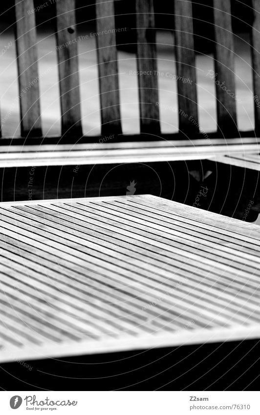 wooden lines Wood Wood flour Abstract Geometry Aspire Pattern Furniture Line Structures and shapes artistic Black & white photo Outdoor furniture