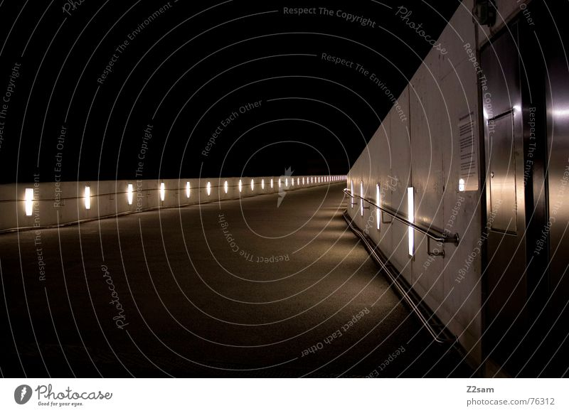 Red Lamp Wall (barrier) Lanes & trails Warmth Glittering Concrete Physics Handrail Traffic light Floodlight Exposure Tar