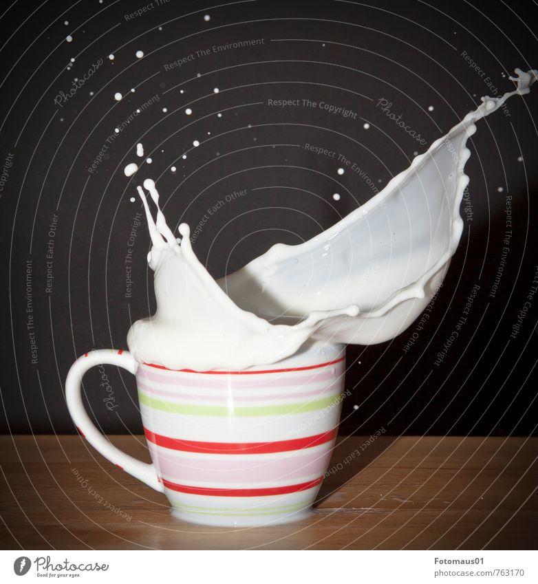 Milk macht´s II Cup Fluid Fresh Healthy Delicious Brown Pink Red Black White Joy Happiness Joie de vivre (Vitality) Power Lack of inhibition Movement Energy