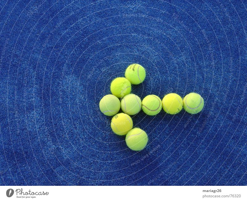 Blue Yellow Sports Ball Target Direction Tennis