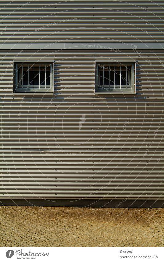 seal Corrugated sheet iron Window Grating Cobblestones Robot Friedrichshain Hut Container construction container Ostkreuz Architecture