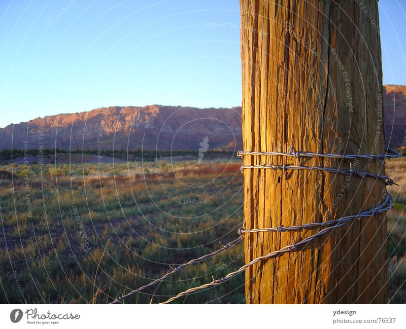 Sky USA Desert Americas Fence Steppe California Barbed wire