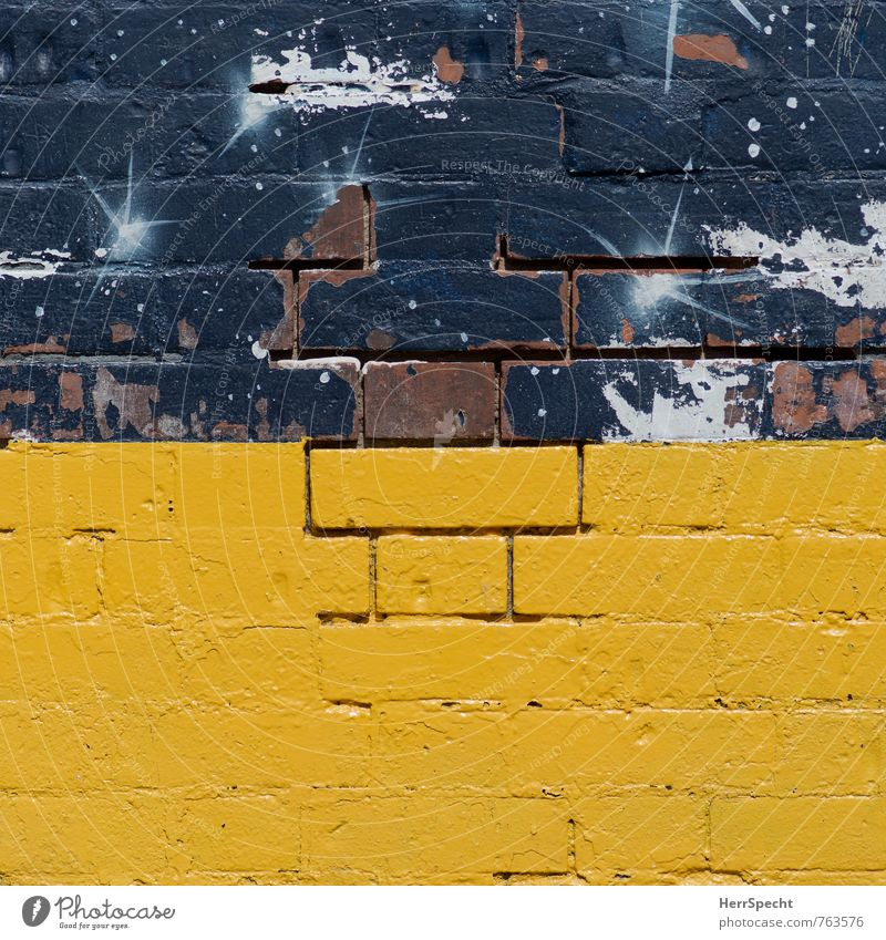 Old City Yellow Wall (building) Dye Wall (barrier) Gray Fresh Broken Derelict Manmade structures Brick London England Furrow Brick wall