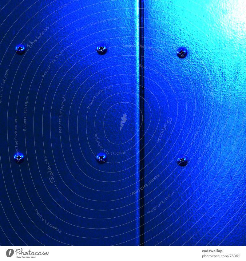 Blue Door Bathroom Obscure Elevator Surface Screw