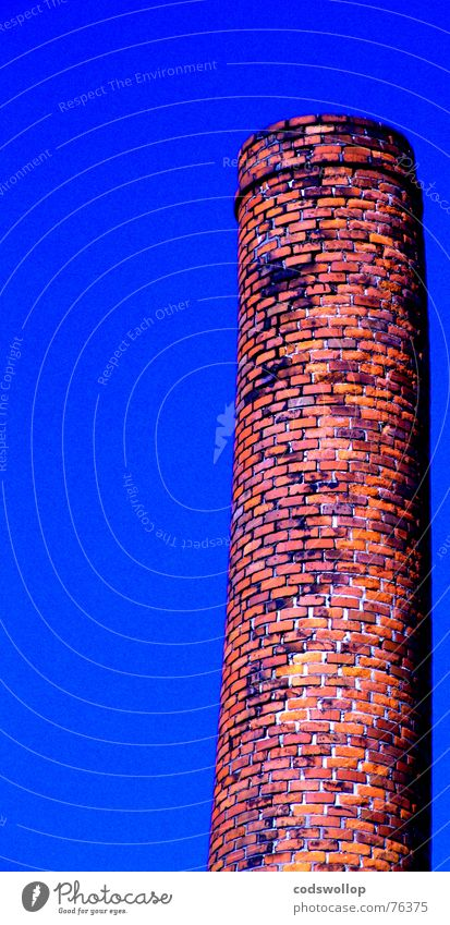 the leaning tower of altona Brick Sky Red Industry Detail chimney bricks bricks and mortar blue Orange