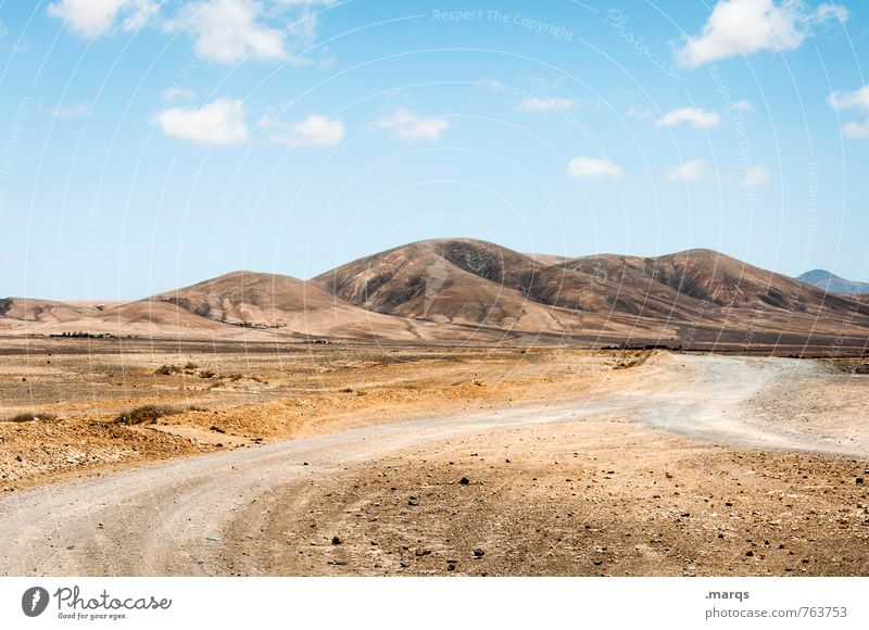 Sky Nature Summer Landscape Clouds Far-off places Warmth Lanes & trails Moody Beautiful weather Adventure Hill Dry Hot Exotic Fuerteventura