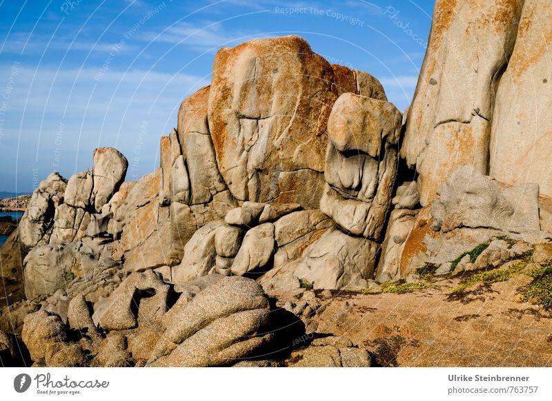 Bizarre Sardinian Giants Vacation & Travel Tourism Summer Environment Nature Landscape Earth Sand Sky Sunlight Beautiful weather Rock Coast Ocean